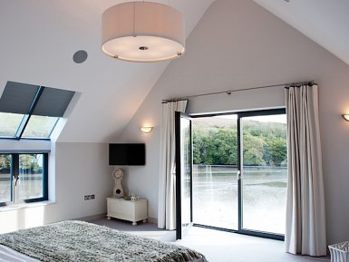 Bedroom balcony and skylights